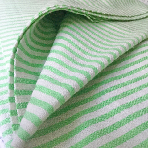 Zebuu Turkish Towel Green Stripes
