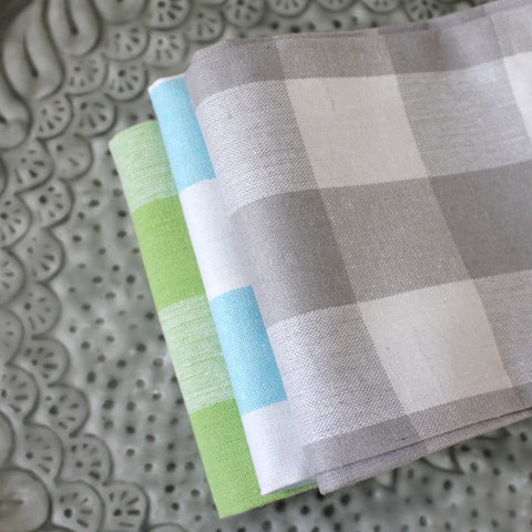Kitchen Country Check Towels Set of 3