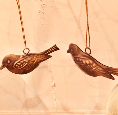 Robin Ornament Set of 2