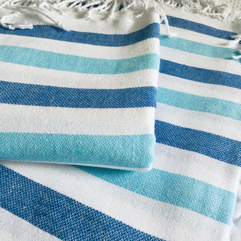 Zebuu Turkish Towel Coastal Stripes