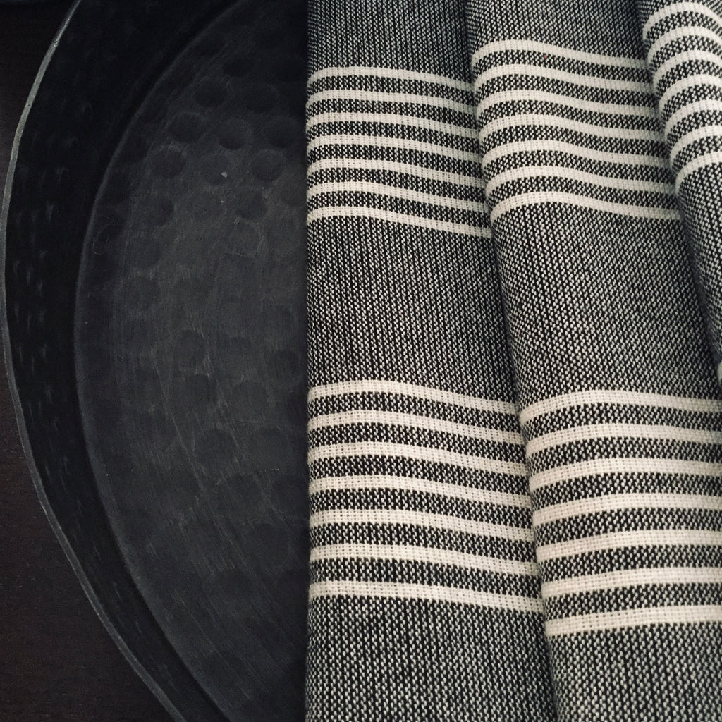 Turkish Hand Towel Black