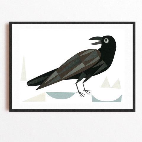 Zebuu Blackbird Art Print
