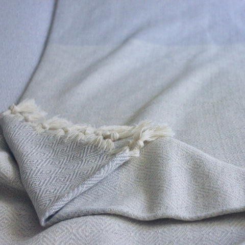 Turkish Cotton Blanket Grey