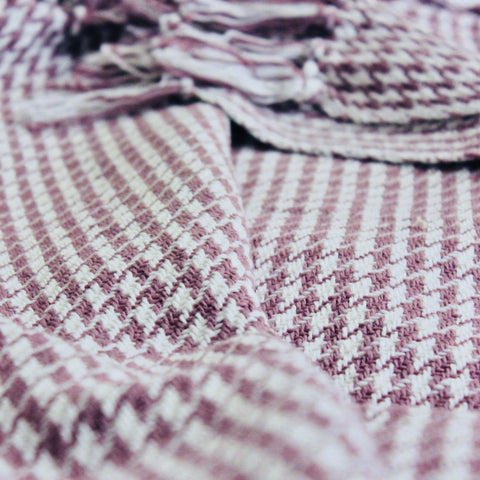 Houndstooth Cotton Throw Lavender