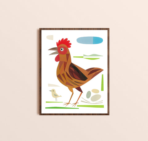Zebuu Chicken Art Print