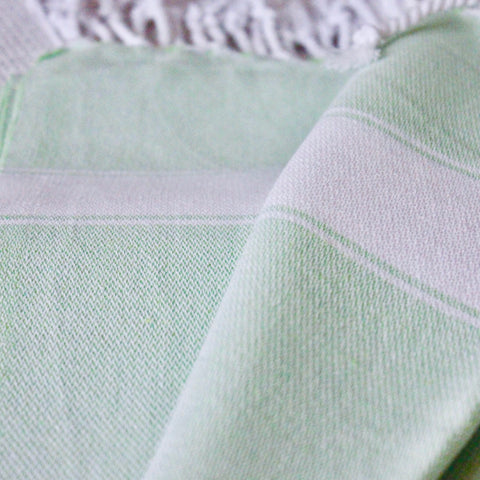 Zebuu Green Turkish Towel