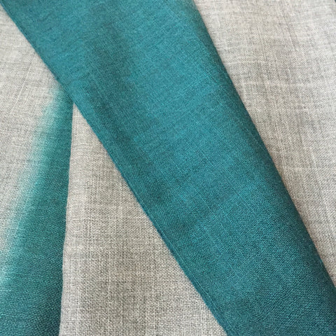 Teal Wool & Silk Scarf