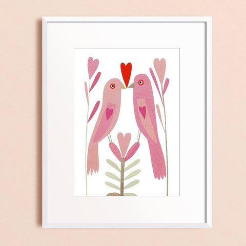 Zebuu Love Birds Art Print