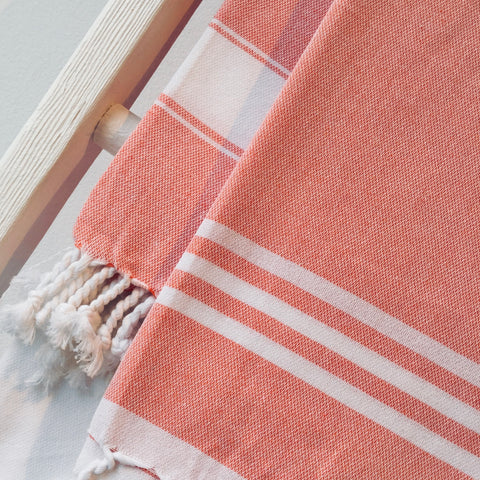 Zebuu Turkish Towel Orange
