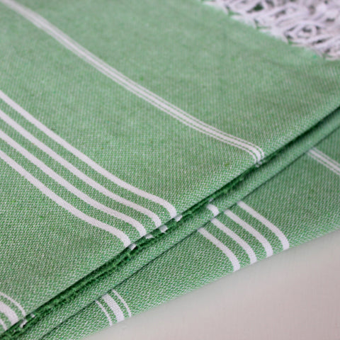 Zebuu Turkish Towel Green