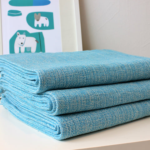 Zebuu Blue Cotton Throw