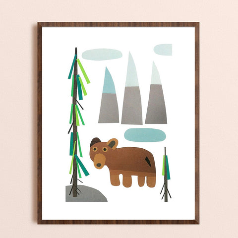 Zebuu Brown Bear Print