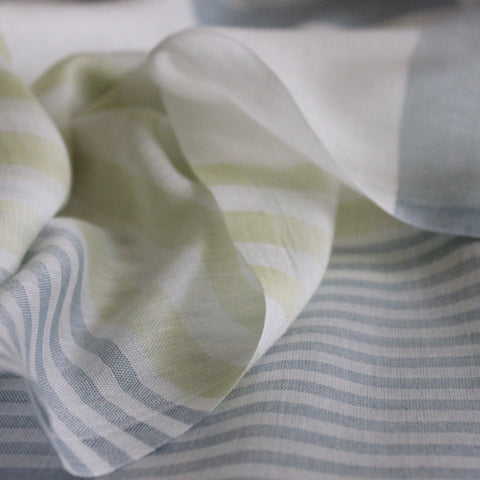 Green Stripes Cotton Scarf
