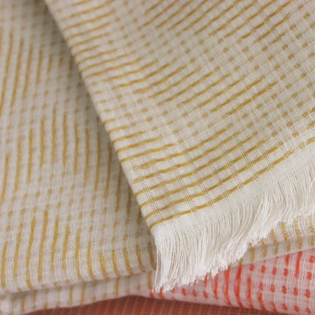 Cotton Diamond Scarf Gold