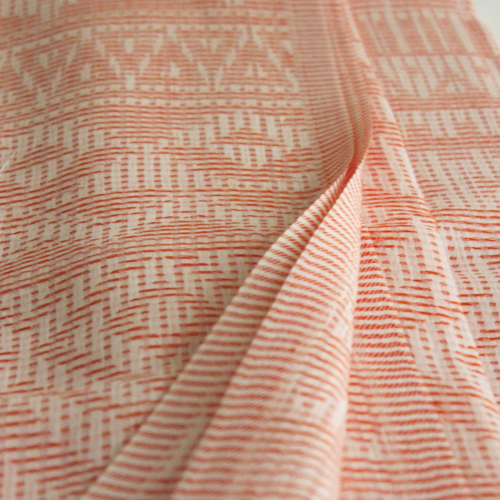 Cotton Diamond Scarf Coral