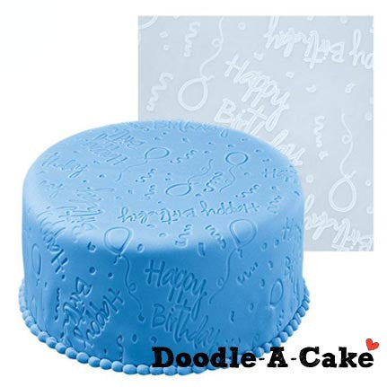 Happy Birthday Silicone Fondant Imprint Mat