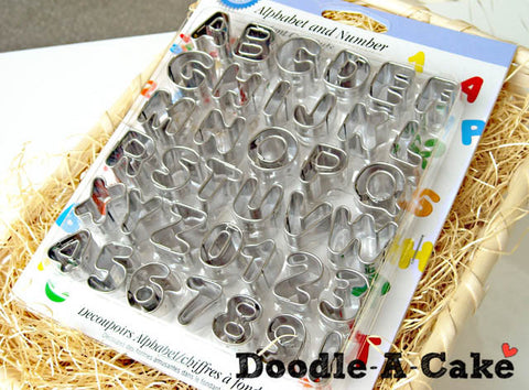 Alphabets & Numbers Aluminium Cutter Set