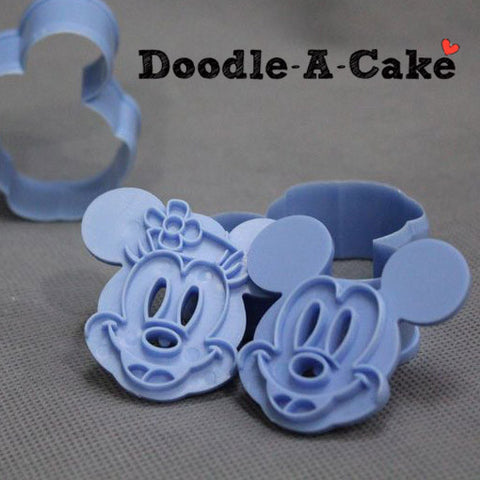 Mickey & Minnie Mouse Inspired Plunger & Cutter Set