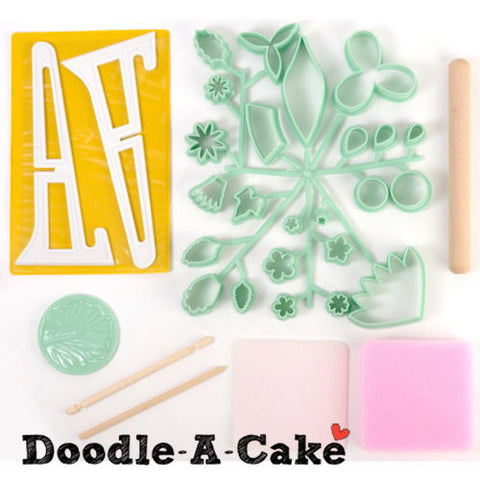Fondant Flowers 32-Piece Kit