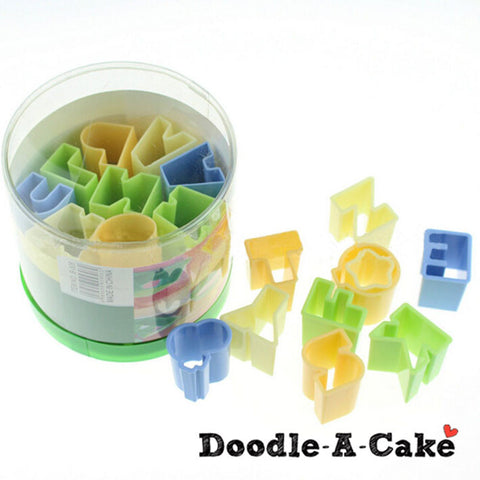 28-piece Alphabet Style Cutters