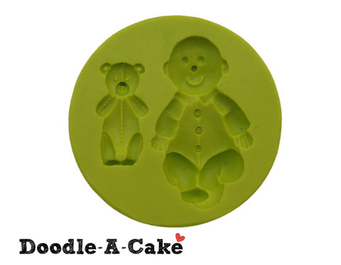 Baby & Teddy Bear Silicone Mold