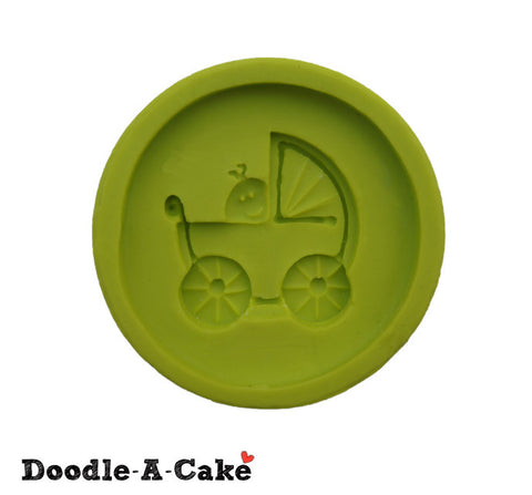 Baby In Stroller Silicone Mold