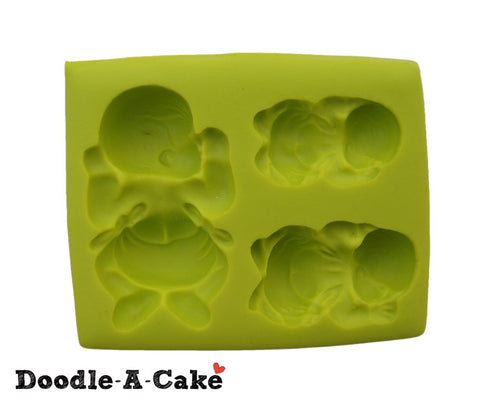 3 Sleeping Babies Silicone Mold