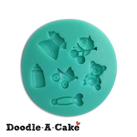 Baby Girl Theme Silicone Mould