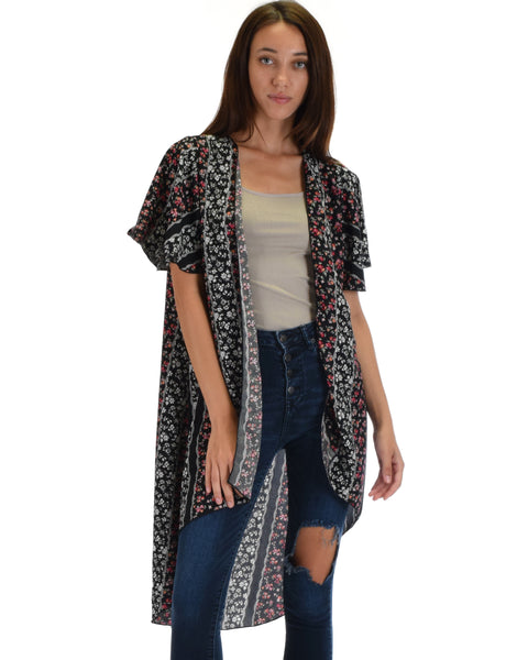 Feel The Breeze Floral Printed Kimono Cardigan