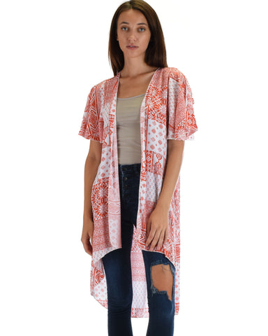 Feel The Breeze Aztec Printed Kimono Cardigan