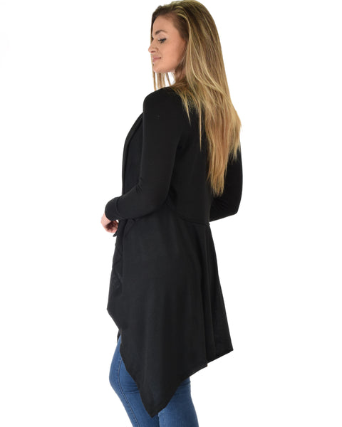 Good Natured Cozy Black Sweater Cardigan