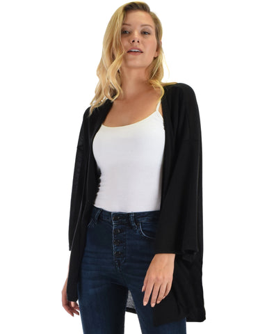 Lyss Loo Graceful Ways Black Kimono Style Cardigan Top