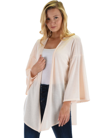 Lyss Loo Graceful Ways Natural Kimono Style Cardigan Top