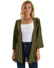 Lyss Loo Graceful Ways Olive Kimono Style Cardigan Top - Lyss Loo