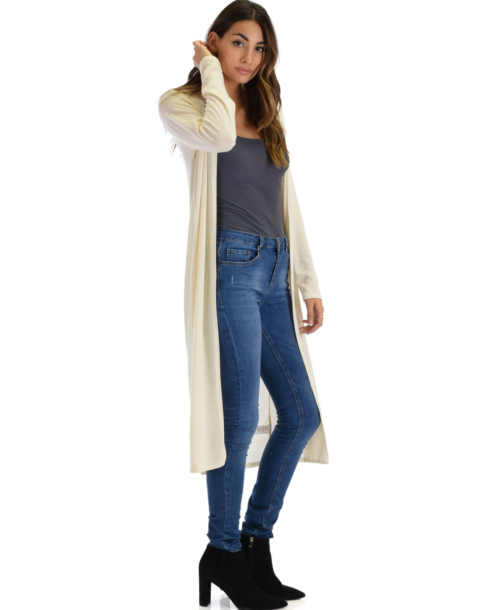 546ab13ef3 ... Cover Me Up Long-line Ivory Hooded Cardigan