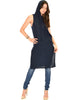 Made My Day Drawstring Navy Hoodie Tunic Top - Lyss Loo