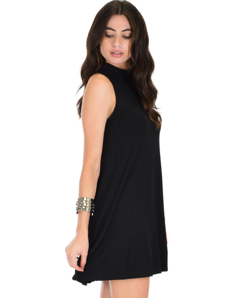 Olivia Tank Black Shift Dress