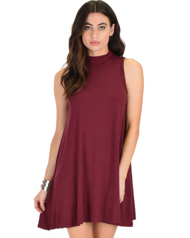 Olivia Tank Burgundy Shift Dress