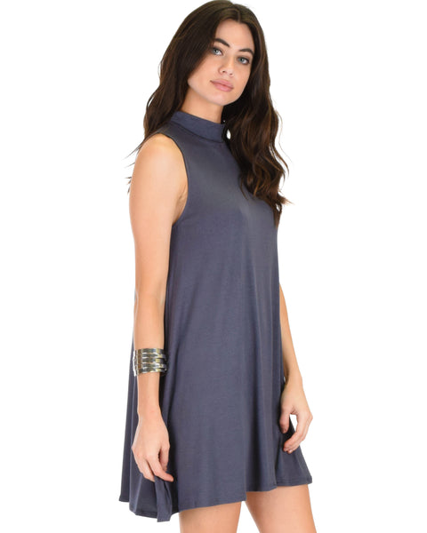 Olivia Tank Charcoal Shift Dress