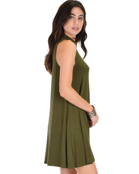 Olivia Tank Olive Shift Dress