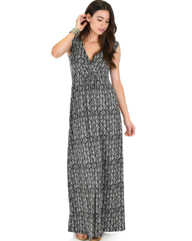 Sweetest Kiss Sleeveless Tribal Maxi Dress