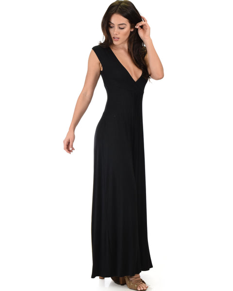 Sweetest Kiss Sleeveless Black Maxi Dress