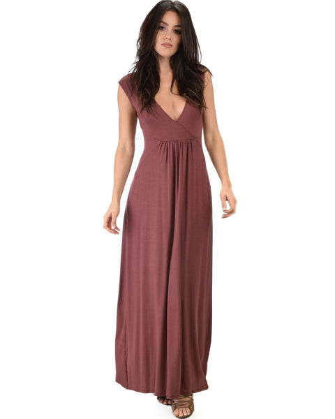 Sweetest Kiss Sleeveless Marsala Maxi Dress