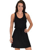 At Ease Waist Tie Black Tank Dress - Main Image