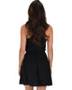 At Ease Waist Tie Black Tank Dress - Back Image