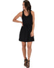 At Ease Waist Tie Black Tank Dress - Full Image