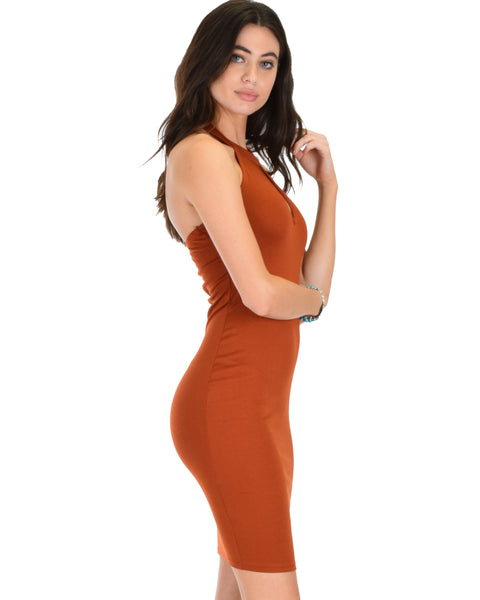 Essential Spice Rust Bodycon Dress