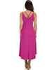 All Wrapped Up Strappy Berry Wrap Dress - Back Image