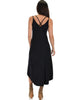 All Wrapped Up Strappy Black Wrap Dress - Back Image
