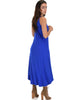 All Wrapped Up Strappy Royal Wrap Dress - Side Image